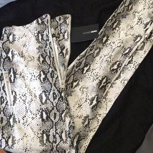 Fashion Nova Snake skin pattern Jeans